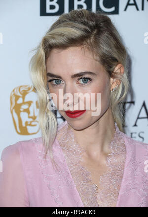 BEVERLY HILLS, LOS ANGELES, CA, USA - SEPTEMBER 16: Actress Vanessa Kirby arrives at the BBC America BAFTA Los Angeles TV Tea Party 2017 held at the Beverly Hilton Hotel on September 16, 2017 in Beverly Hills, Los Angeles, California, United States. (Photo by Xavier Collin/Image Press Agency) - Stock Photo