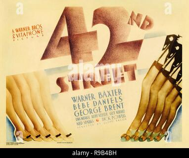 Original film title: 42ND STREET. English title: 42ND STREET. Year: 1933. Director: LLOYD BACON. Credit: WARNER BROTHERS / Album - Stock Photo