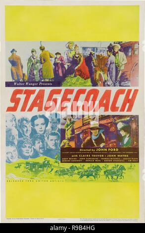 Original film title: STAGECOACH. English title: STAGECOACH. Year: 1939. Director: JOHN FORD. Credit: UNITED ARTISTS / Album - Stock Photo
