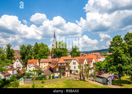 View over Erbach, Odenwald, Germany - Stock Photo