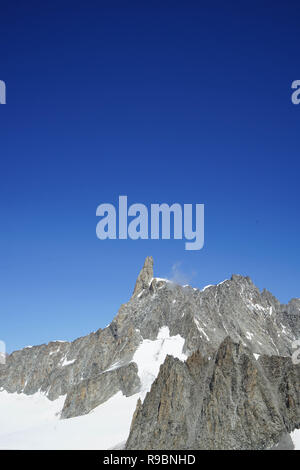 Panoramic view of the Mont Blanc Massif: tooth of the Giant - Stock Photo