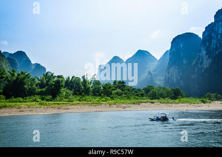 Mountains and river scenery, Guilin, China. - Stock Photo
