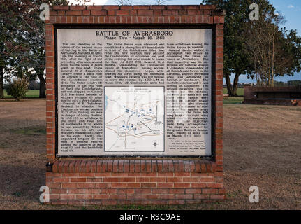 Averasboro Battle Field, NC-Circa 2018: Civil War Battlefield and Monuments - Stock Photo