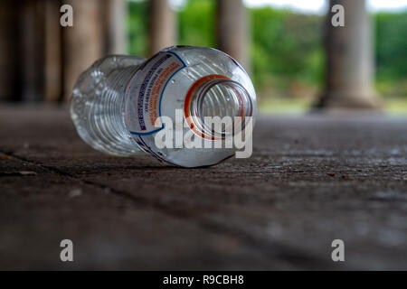 Plastic objects washed up on beach or in the street - Stock Photo