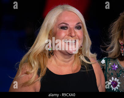 Vanessa Feltz, English television personality, freelance broadcaster and journalist, arrives for the Premiere of 'Mary Poppins Returns'. - Stock Photo