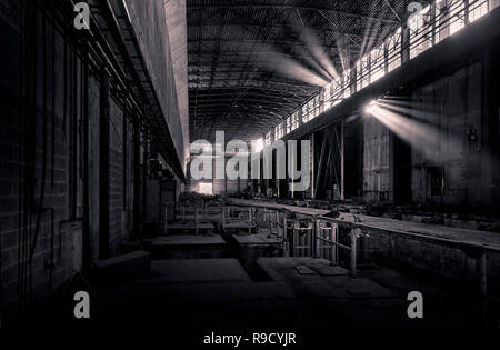 former steel factory, lost place - Stock Photo