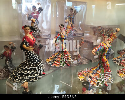 Flamengo dance dolls, souvinir in Segovia, Spain. - Stock Photo