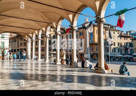 The beautiful Loggia di San Giovanni in the historic center of Udine, Friuli Venezia Giulia, Italy - Stock Photo