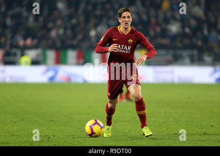 Torino, Italy. 22nd Dec, 2018. Torino, 22th December, 2018. Nicolò Zaniolo of As Roma in action during the Serie A football match between Juventus Fc and As Roma . Credit: Marco Canoniero/Alamy Live News - Stock Photo