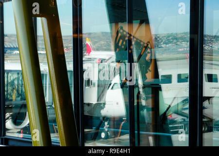 International Airport Adolfo Suárez Madrid-Barajas, Madrid, Spain - Stock Photo