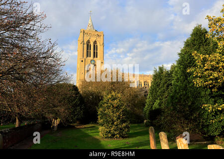 Parish church of Mary Magdelene, Gedney village, Lincolnshire, England - Stock Photo