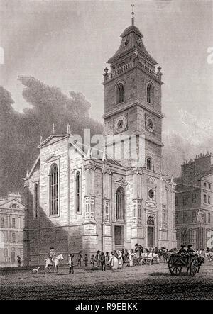 The Tron Kirk, Edinburgh, Scotland, 19th century, Views in Edinburgh by J. & H. S. Storer - Stock Photo