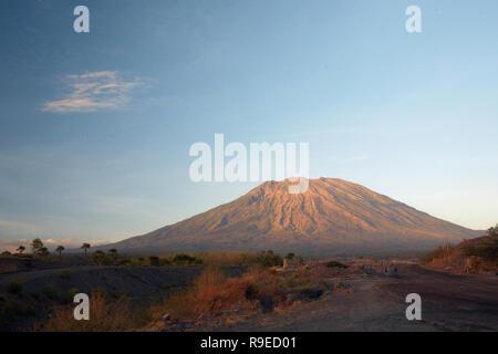 View Agung volcanoe of Bali Island, Indonesia before eruption - Stock Photo