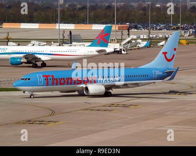Thomson Boeing 737 G-FDZP Manchester 2009. - Stock Photo