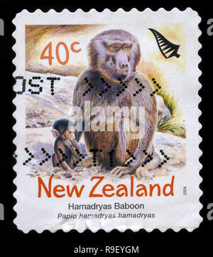 Postage stamp from New Zealand in the Zoo Animals series issued in 2004 - Stock Photo