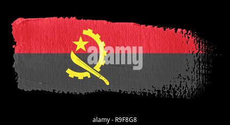 Brushstroke Flag Angola - Stock Photo