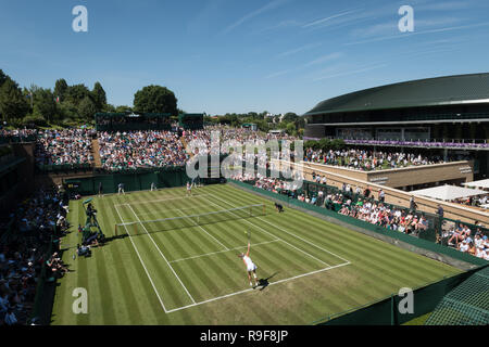 02 July 2018.  The Wimbledon Tennis Championships 2018 held at The All England Lawn Tennis and Croquet Club, London, England, UK.    Ekaterina Alexand - Stock Photo