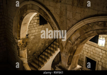 Rector's Palace (Knezev dvor) in Dubrovnik, Croatia. - Stock Photo