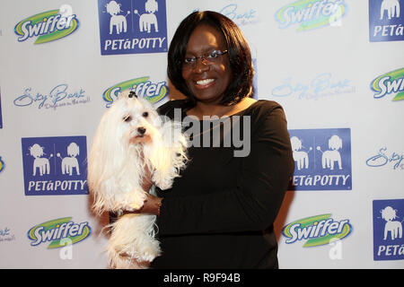 NEW YORK - FEBRUARY 12:  TV Personality Laurie Williams of The 'Greatest American Dog' TV Show attends the North Shore Animal League's Pre-Westminster Fashion Show at the Hotel Pennsylvania on February 12, 2010 in New York City.  (Photo by Steve Mack/S.D. Mack Pictures) - Stock Photo