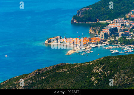Budva along the Adriatic coast, Montenegro - Stock Photo