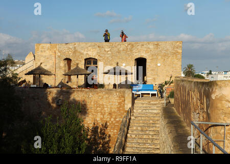 Hammamet fort, surrounding medina, Tunisia - Stock Photo