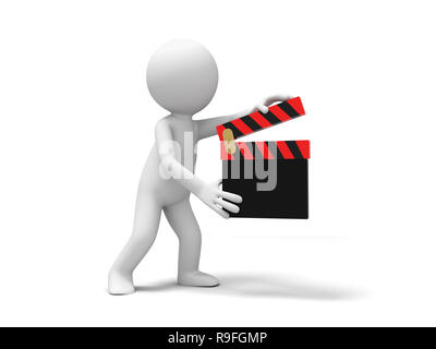 director,clapper,movie A people is holding a clapper - Stock Photo