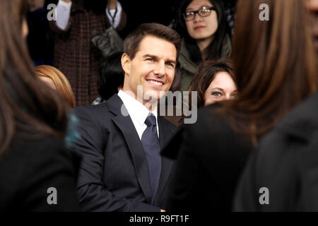 NEW YORK, NY - DECEMBER 19:  Tom Cruise attends the 'Mission: Impossible - Ghost Protocol' U.S. premiere at the Ziegfeld Theatre on December 19, 2011 in New York City.  (Photo by Steve Mack/S.D. Mack Pictures) - Stock Photo