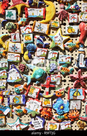 Traditional souvenirs in Vietri sul Mare. Amalfi coast, Italy - Stock Photo