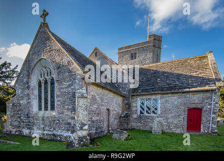 St Michael and All Angels Church, Steeple, near Warhead, Dorset, UK - Stock Photo