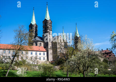 Cathedral in Bamberg,Franconia - Stock Photo
