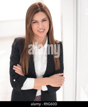 close up.portrait of a confident young business woman - Stock Photo