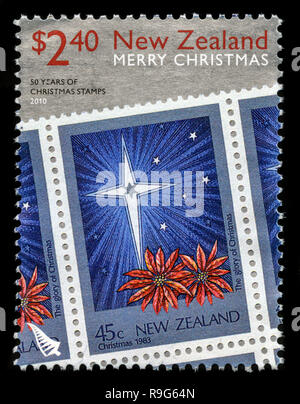 Postage stamp from New Zealand in the Christmas 2010 series - Stock Photo
