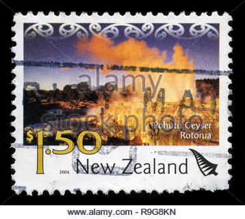 Postage stamp from New Zealand in the Tourism (2004) series - Stock Photo