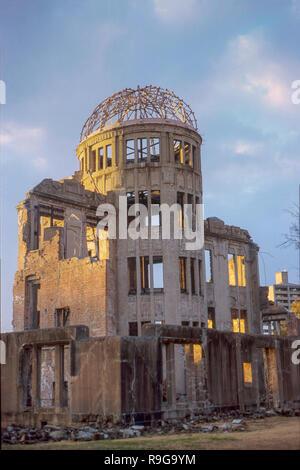 Genbaku Dome in Hiroshima - Stock Photo