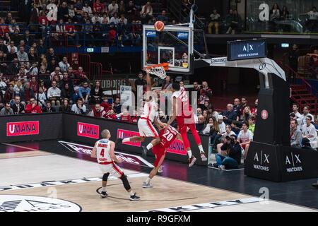 Milan, Italy. 23rd Dec, 2018. Milan, Italy. December 23, 2018. Olimpia Milano vs Pallacanestro Varese Credit: Luca Quadrio/Alamy Live News - Stock Photo