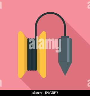 Gravity line tool icon. Flat illustration of gravity line tool vector icon for web design - Stock Photo