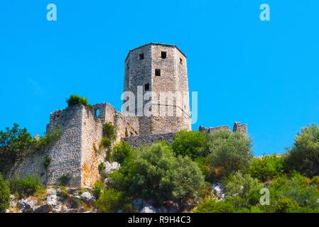Towers of the Kula, Pocitelj, Bosnia and Herzegovina - Stock Photo