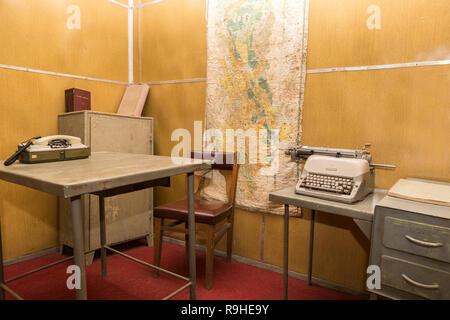 Offices Bunk'Art nuclear bunker Tirana Albania - Stock Photo