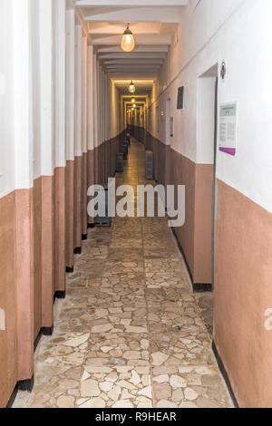 Corridor Bunk'Art nuclear bunker Tirana Albania - Stock Photo