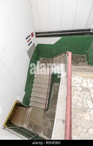 Stairwell  Bunk'Art nuclear bunker Tirana Albania - Stock Photo