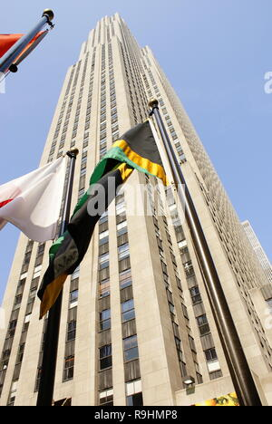 New York, USA - August 14, 2012: Skyscrapers of the city of New York during the summer. - Stock Photo