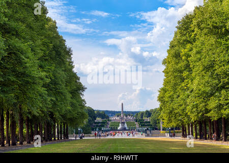 Vigeland Sculpture Park (Vigelandsparken), Frognerparken, Oslo, Norway - Stock Photo