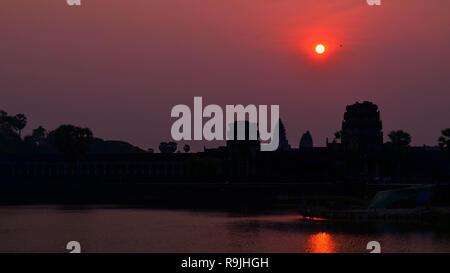 Sunrise - Angkor Wat Temple - Stock Photo