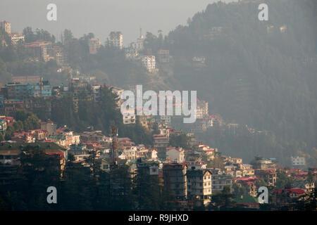 Scenic view of Shimla, Himachal Pradesh, India - Stock Photo