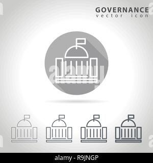 Governance outline icon - Stock Photo