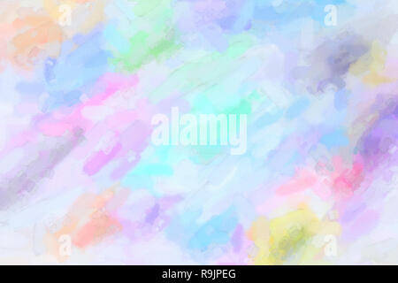 Multicolored watercolor gradient background. Colorful digital illustration simulating true watercolor with paper texture. - Stock Photo