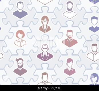 Social Network - Seamless Vector Pattern