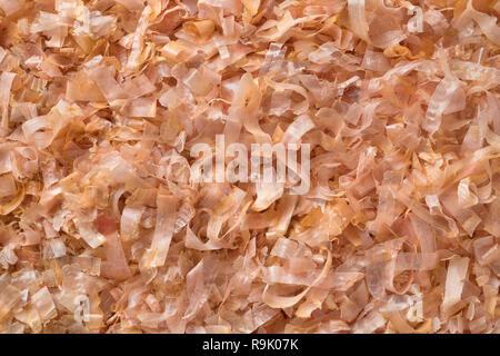 Dried bonito flakes full frame close up - Stock Photo