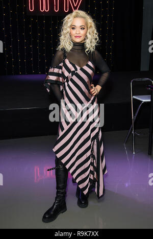 British singer, actress and former host of America's Next Top Model meets fans and signs copies of her sophomore album, Phoenix, six years after the release of her debut  Featuring: Rita Ora Where: London, United Kingdom When: 24 Nov 2018 Credit: Phil Lewis/WENN.com - Stock Photo