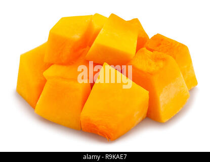 sliced butternut squash path isolated - Stock Photo
